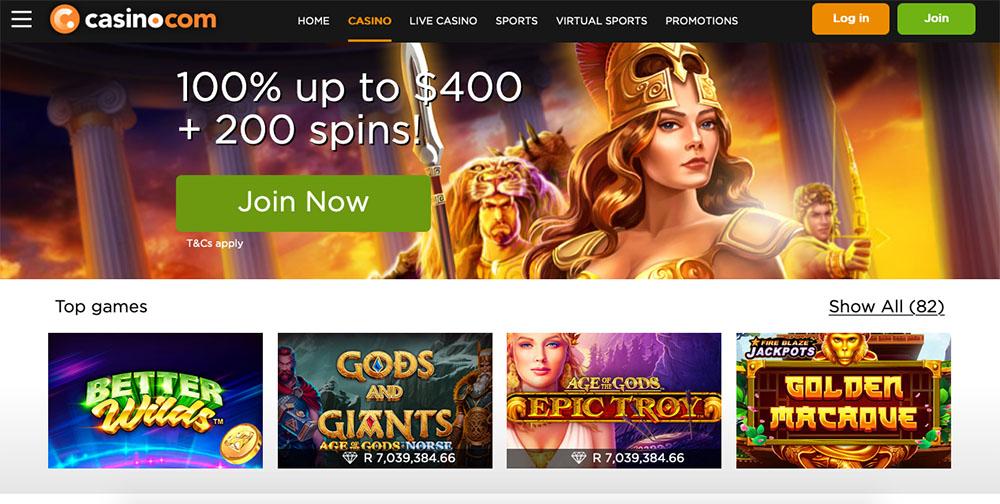 Casino.com Online Casino Games