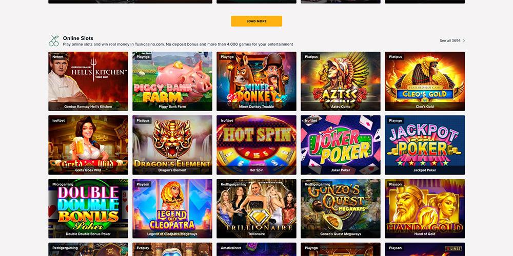 Tusk casino slots